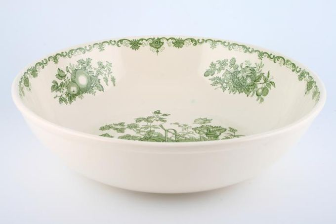 """Masons Fruit Basket - Green Serving Bowl 12"""""""