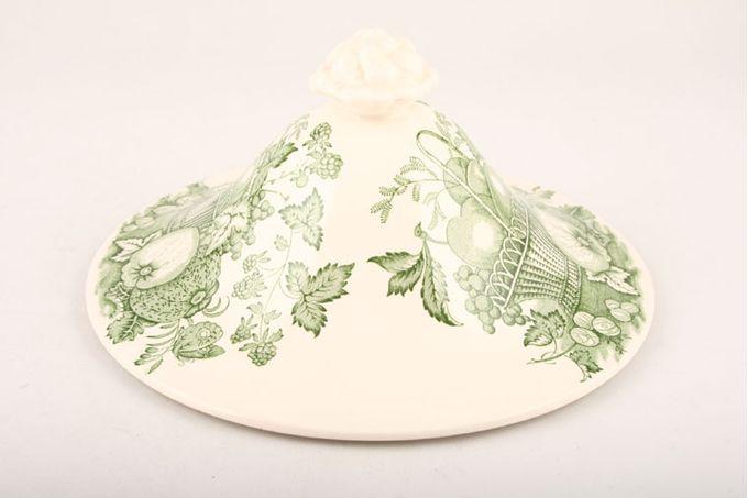Masons Fruit Basket - Green Vegetable Tureen Lid Only