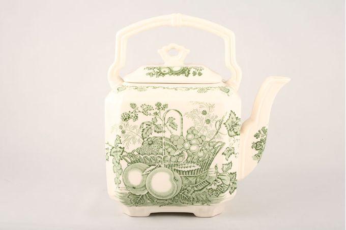Masons Fruit Basket - Green Teapot Square Tea Kettle