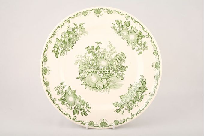 Masons Fruit Basket - Green Cake Plate 10 1/2""