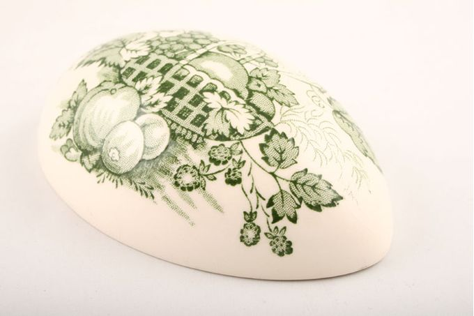 "Masons Fruit Basket - Green Egg Top half of the egg/lid to trinket box 4 1/4"""