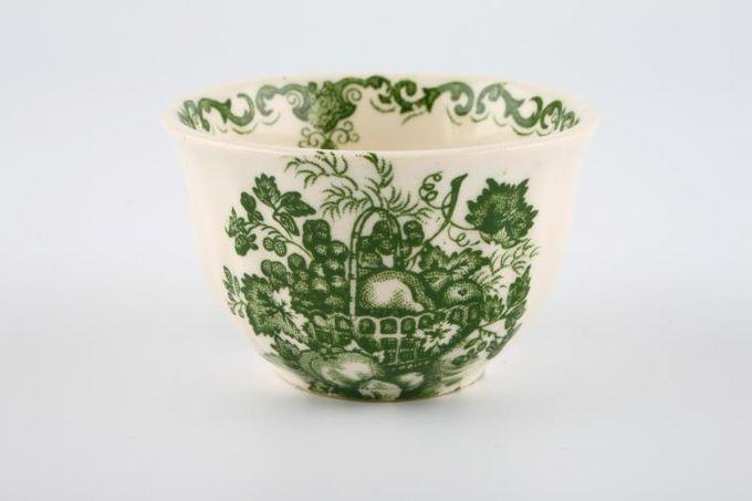 "Masons Fruit Basket - Green Miniatures Sugar Bowl - Open 2 1/2"""