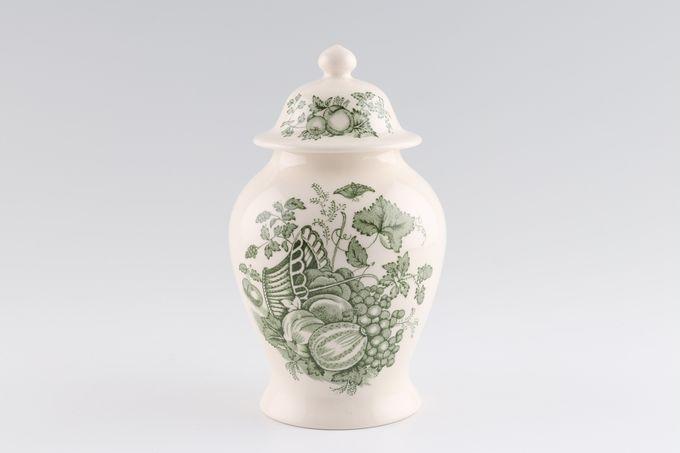 "Masons Fruit Basket - Green Vase Size includes lid. Oriental shape 6"""