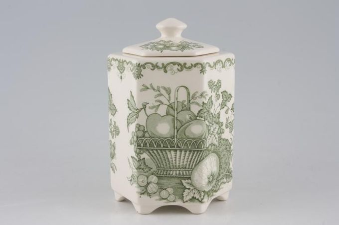 Masons Fruit Basket - Green Tea Caddy Size includes lid 6 1/4""