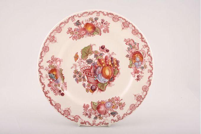 "Masons Fruit Basket - Pink Breakfast / Salad / Luncheon Plate 8 3/4"""