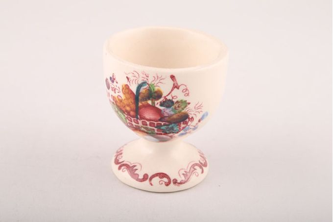 Masons Fruit Basket - Pink Egg Cup footed 1 7/8 x 2 1/8""