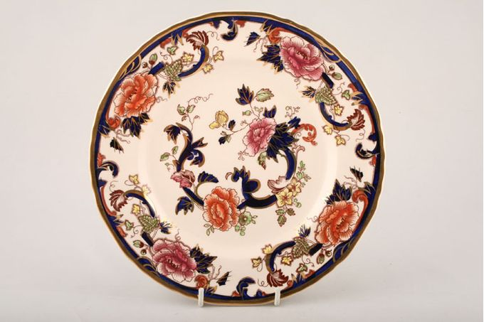 "Masons Mandalay - Blue Breakfast / Salad / Luncheon Plate Thickness of gold band may vary. 8 3/4"""