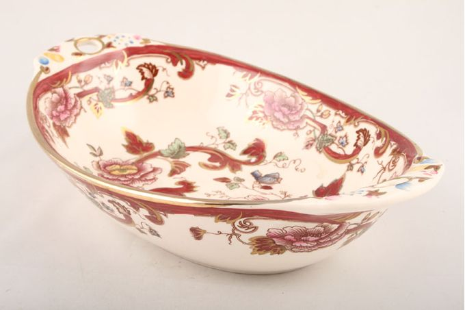 "Masons Mandalay - Red Dish (Giftware) Oval Dutch Bowl (Pierced Ears) 10"""