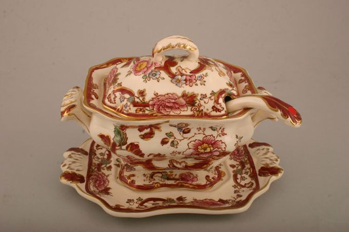 Masons Mandalay - Red Sauce Tureen Stand