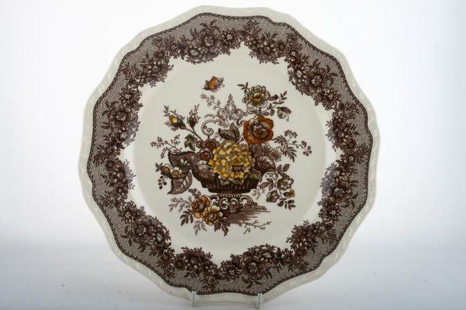 "Masons Ascot - Brown Dinner Plate 10 3/4"""