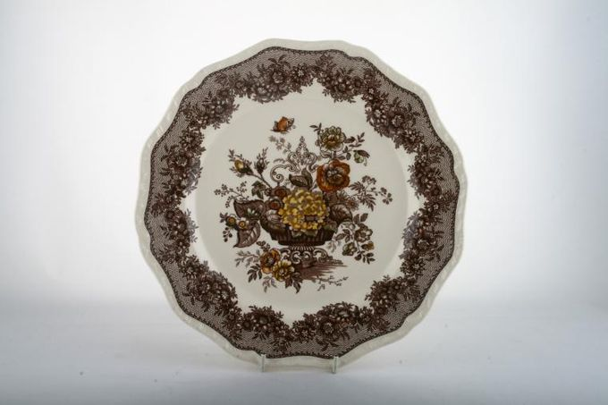 Masons Ascot - Brown Breakfast / Salad / Luncheon Plate 9""