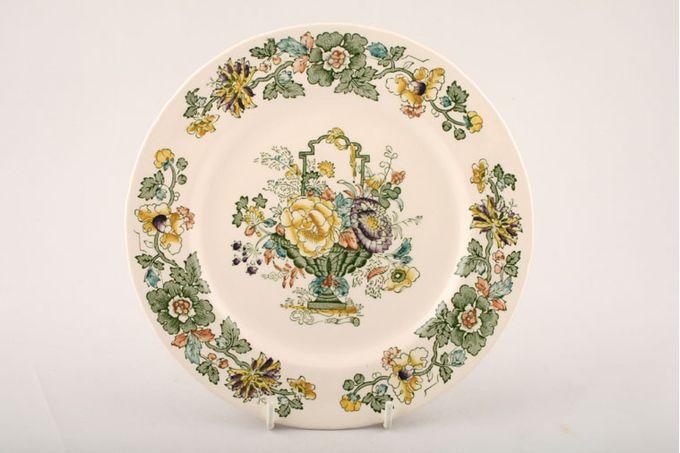 "Masons Strathmore - Green + Yellow Dinner Plate 10 1/2"""