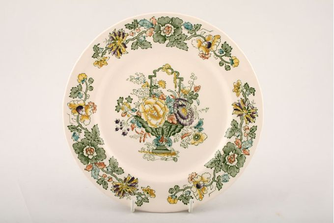 """Masons Strathmore - Green + Yellow Breakfast / Salad / Luncheon Plate Sizes may vary 8 7/8"""""""