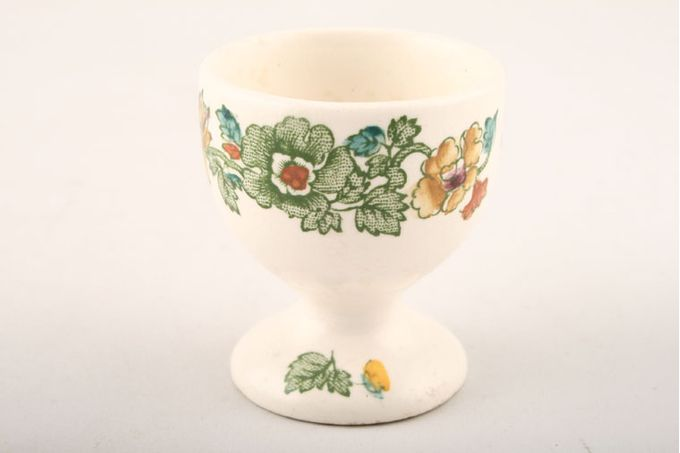 """Masons Strathmore - Green + Yellow Egg Cup footed 1 7/8 x 2 1/8"""""""