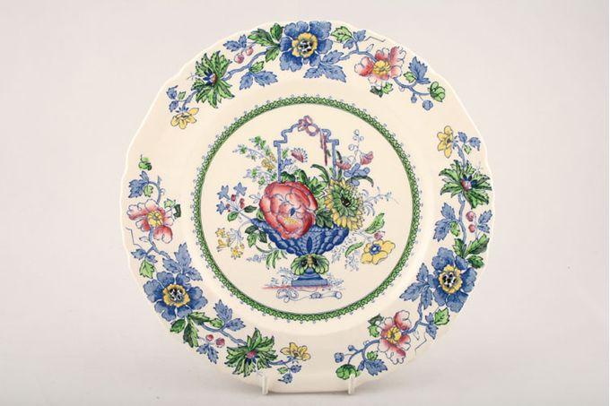 "Masons Strathmore - Pink + Blue Breakfast / Salad / Luncheon Plate 8 3/4"""