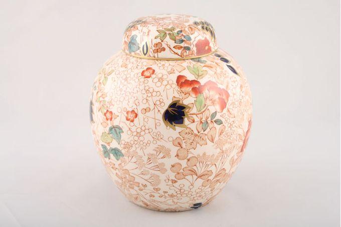 """Masons Bitter Sweet Storage Jar + Lid Prunus Jar M/S 6 3/4"""""""