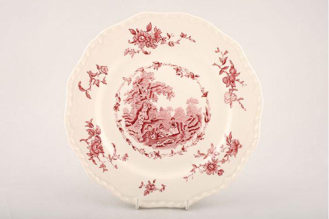 """Masons Watteau - Pink Breakfast / Salad / Luncheon Plate 9"""""""
