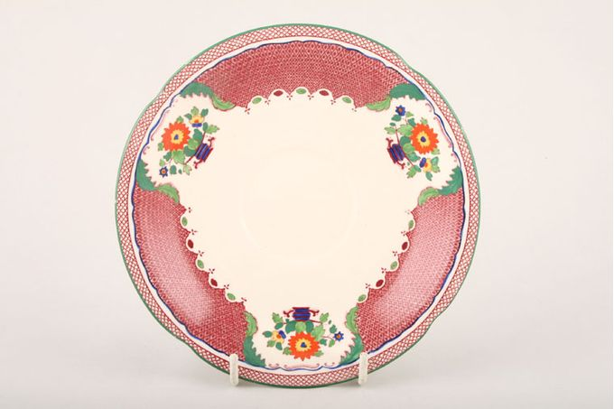 """Masons Madrigal - Red Soup Cup Saucer 6 1/2"""""""