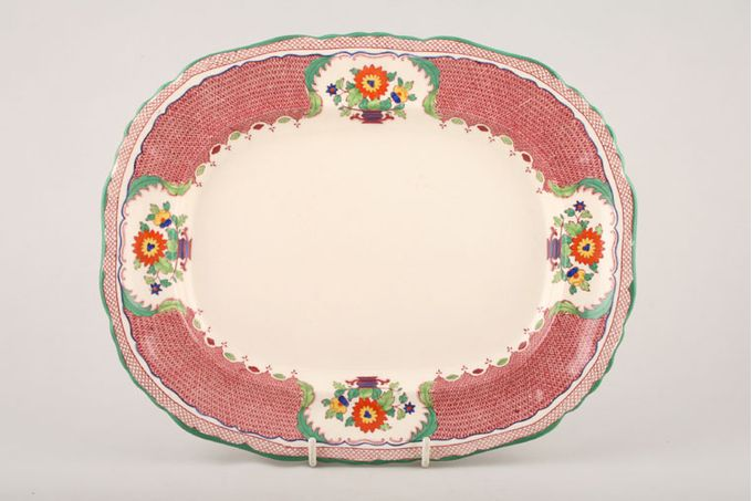 Masons Madrigal - Red Oblong Plate / Platter 11""