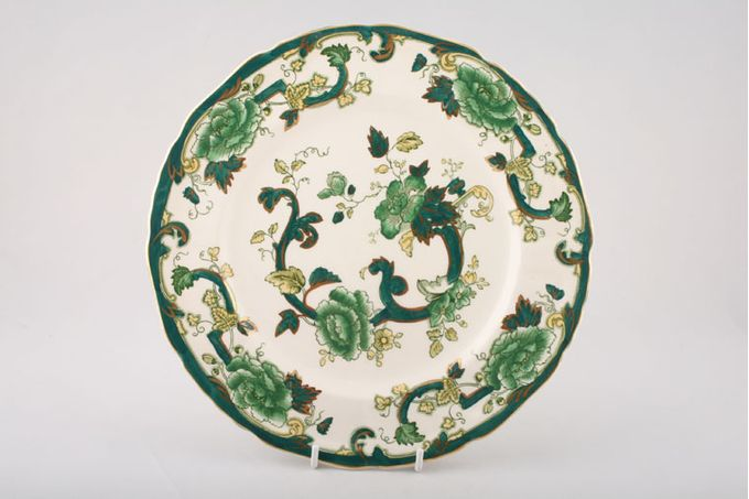 """Masons Chartreuse Dinner Plate Gold Edge 10 1/2"""""""