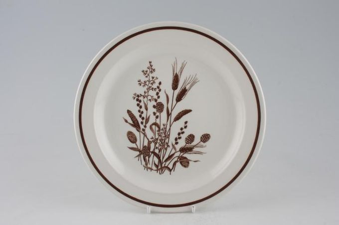 Meakin Country Lane - Brown Wheat Breakfast / Salad / Luncheon Plate 9""