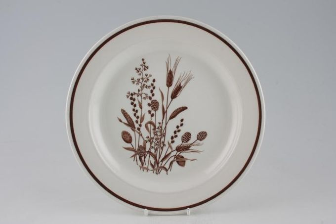Meakin Country Lane - Brown Wheat Dinner Plate Some items have Royal Victora B/S 10""