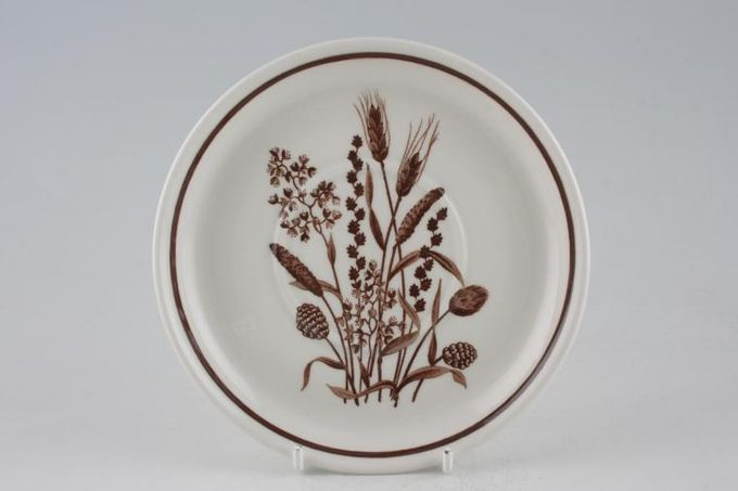 """Meakin Country Lane - Brown Wheat Soup Cup Saucer Raised well - teacups also fit. 6 1/8"""""""