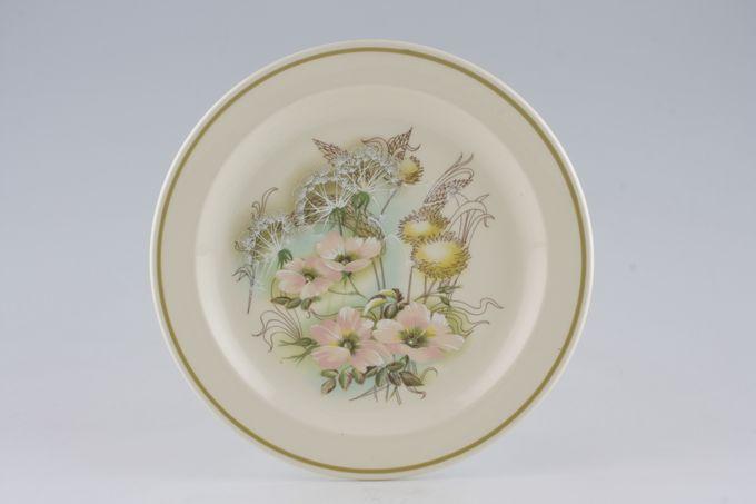 """Meakin Trend - Pink Flowers + Dandelion Clocks Breakfast / Salad / Luncheon Plate 9 1/4"""""""