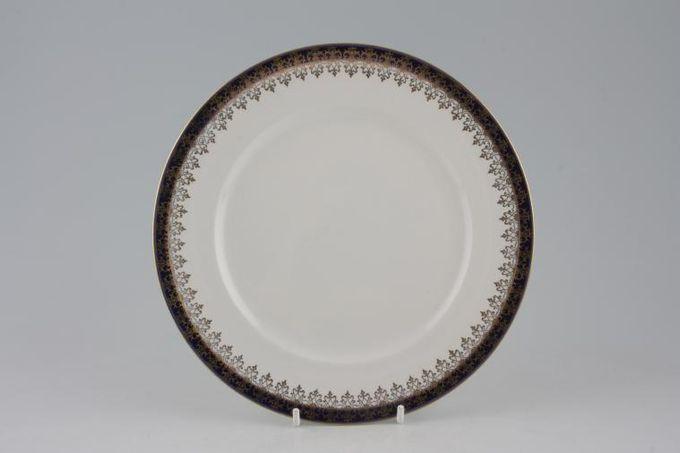 """Meakin Bleu De Roi (Scroll Design on Rim) Breakfast / Salad / Luncheon Plate 8 7/8"""""""