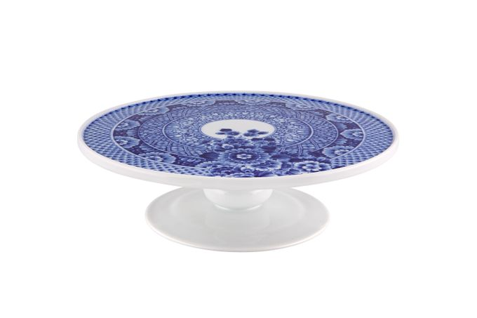 Vista Alegre Blue Ming Footed Cake Plate