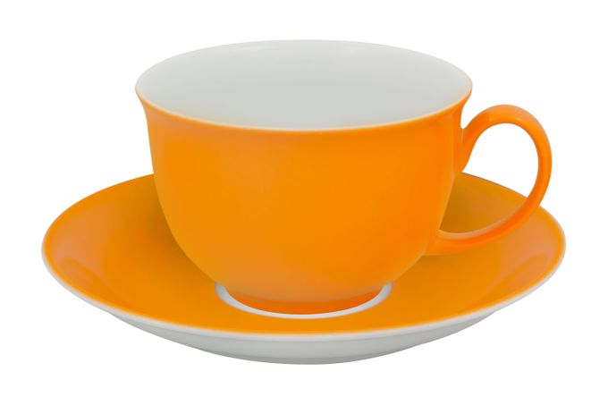 Vista Alegre Colours Breakfast Cup & Saucer Light Orange