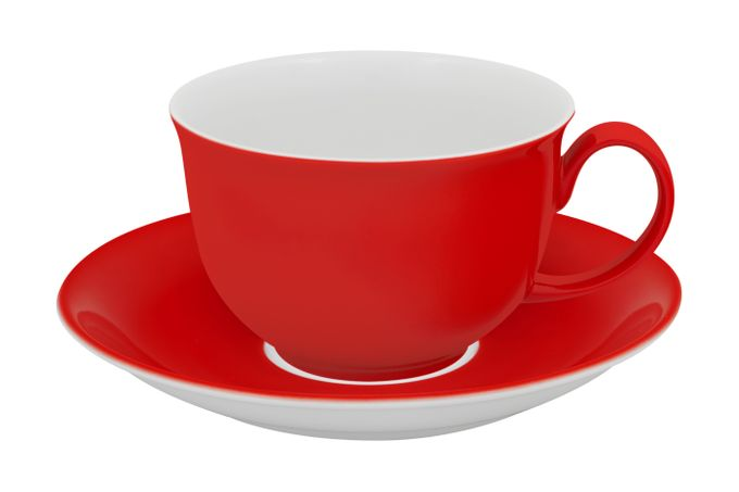 Vista Alegre Colours Breakfast Cup & Saucer Red
