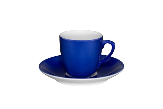 Vista Alegre Colours Coffee Cup & Saucer Blue - Saucer 11.4cm 5.7 x 5.4cm