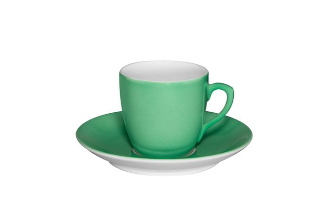 Vista Alegre Colours Coffee Cup & Saucer Light Green
