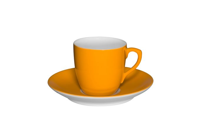Vista Alegre Colours Coffee Cup & Saucer Light Orange - Saucer 11.4cm 5.7 x 5.4cm