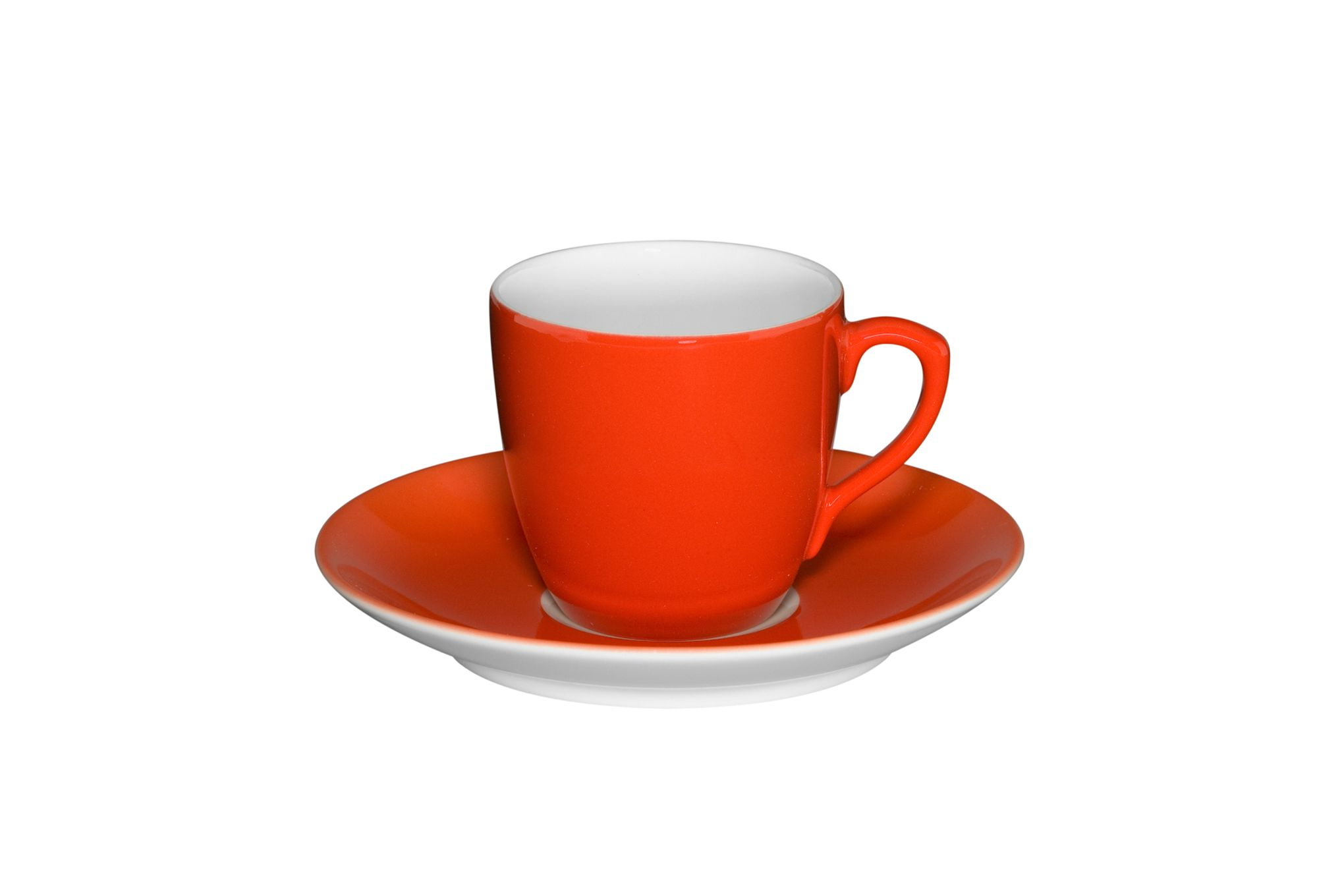 Orange Cooper & Co. Branded Cup with Saucer