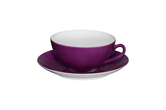 Vista Alegre Colours Teacup & Saucer Purple - Saucer 13.9cm 9.8 x 4.5cm