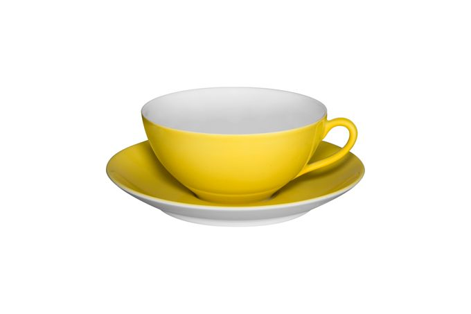 Vista Alegre Colours Teacup & Saucer Yellow - Saucer 13.9cm 9.8 x 4.5cm