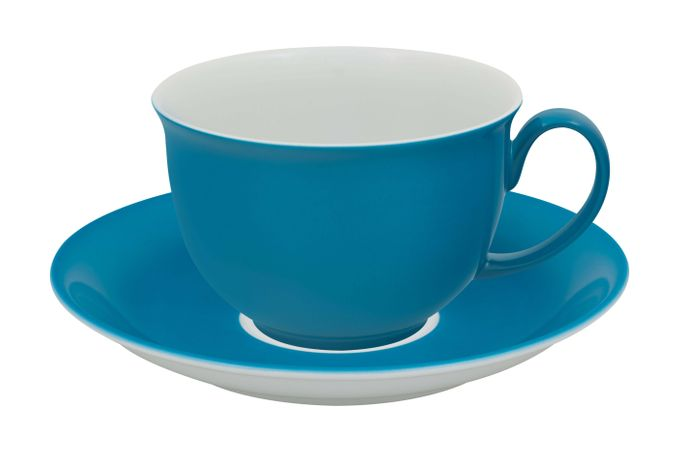 Vista Alegre Colours Breakfast Cup & Saucer Light Blue - Saucer 17.1cm 10.9 x 7cm