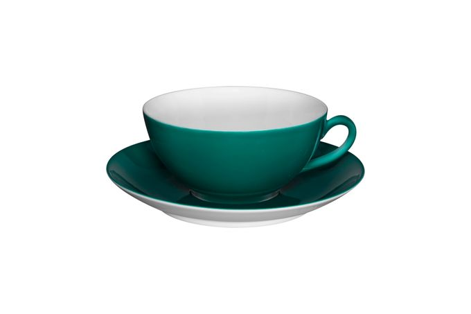 Vista Alegre Colours Teacup & Saucer Green - Saucer 13.9cm 9.8 x 4.5cm