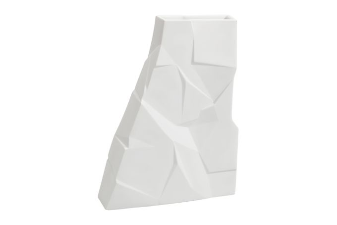 Vista Alegre Matrix Vase Tall Thin Vase 19 x 3.8 x 25.5cm
