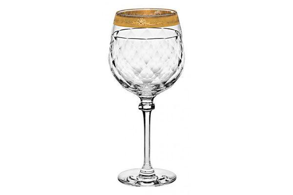 Vista Alegre Palazzo Gold Pair of Red Wine Glasses 0.8l