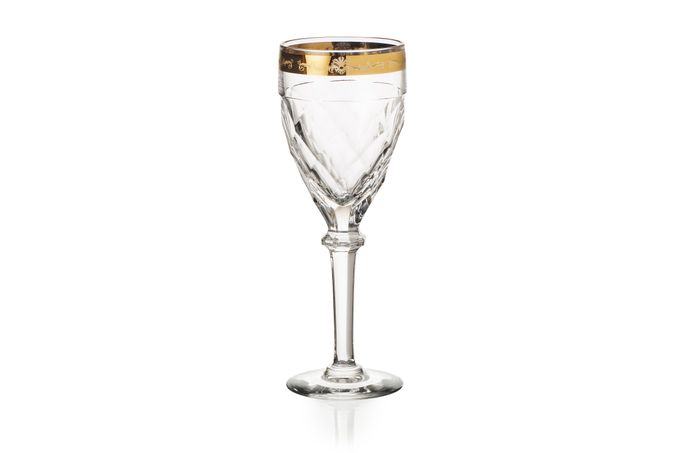 Vista Alegre Palazzo Gold Pair of Water Goblets 0.2l