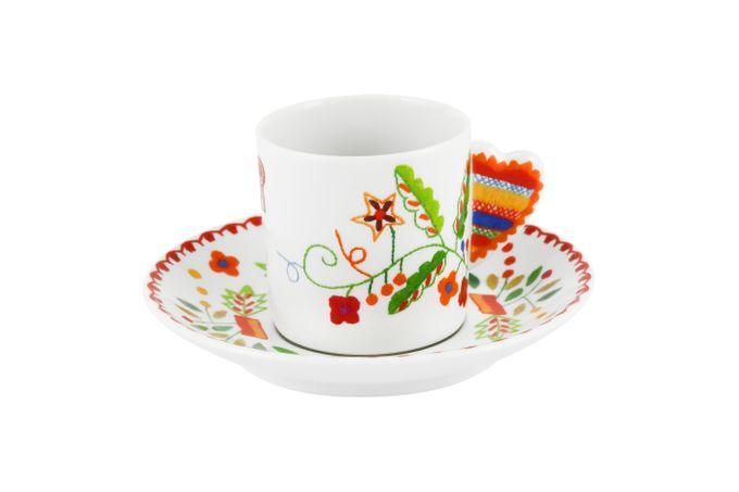 Vista Alegre Vila Verde Coffee Cup & Saucer A 11.7cm