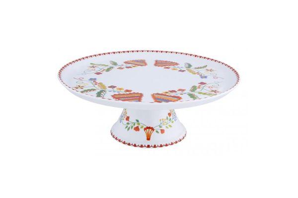 Vista Alegre Vila Verde Footed Cake Plate