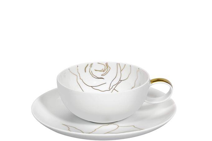 Vista Alegre Rose Tea Cup and Saucer Saucer is 16.7cm 10.2 x 5cm