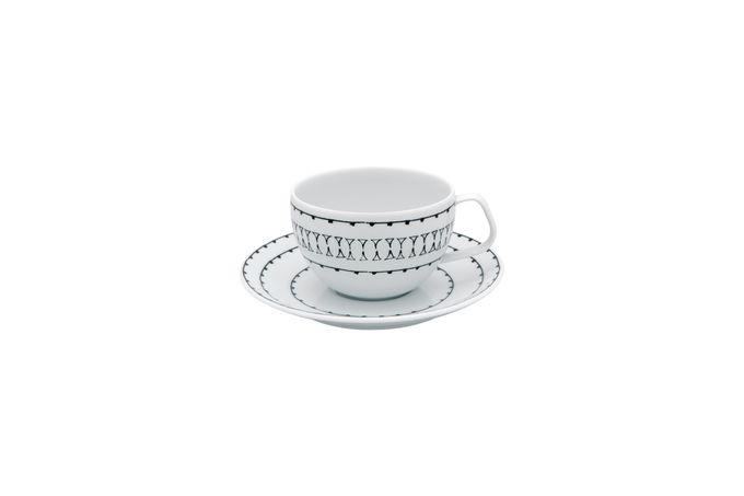 Casa Alegre Nero Teacup & Saucer Size is cup size. Saucer is 15.5cm 9.5 x 6.3cm