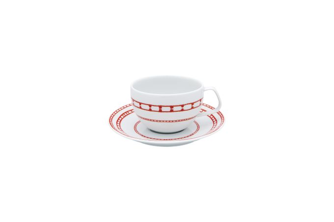 Casa Alegre Rosso Tea Cup and Saucer Size is cup size. Saucer is 15.5cm 9.5 x 6.5cm