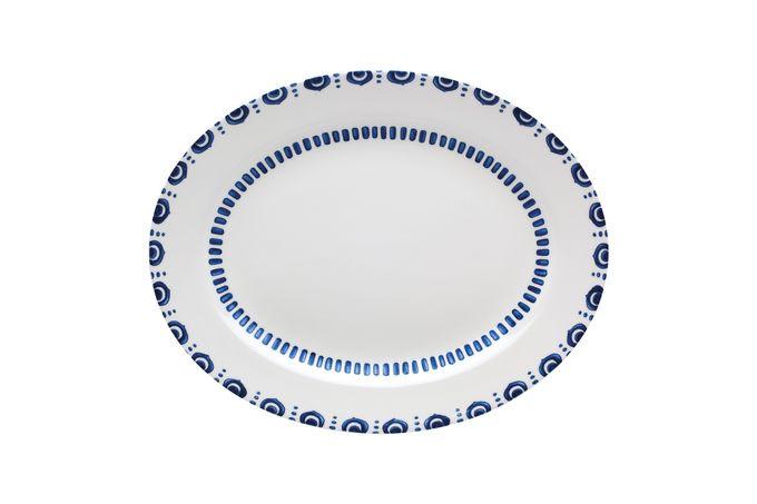Casa Alegre Azure Oval Platter 32.5 x 25.5cm