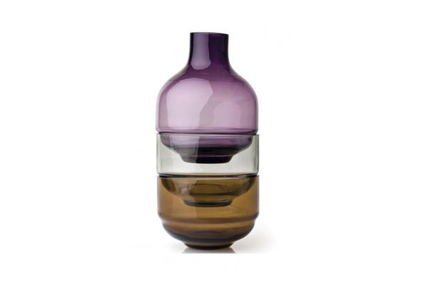 Leonardo Fusion Stacking Vase and Bowl Set 3 Piece Purple Small